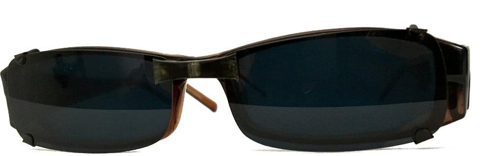 Magnetic bridge clip-on sunglasses