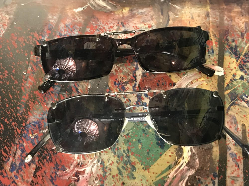 Custom clip on sunglasses for plastic eyeglasses