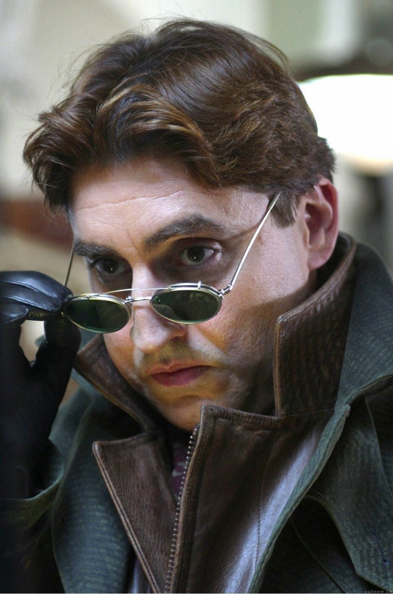 Alfred Molina As Dr Otto Octavius In The 2004 Movie Spiderman 2 with clip on sunglasses
