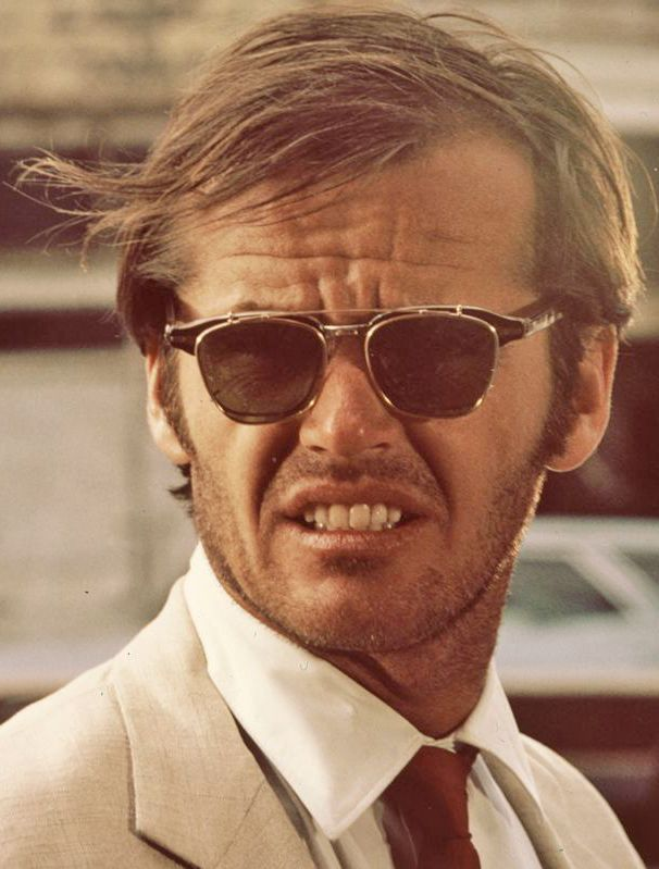 Jack Nicholson As George Hanson In The 1969 Movie Easy Rider, with clip on sunglasses.