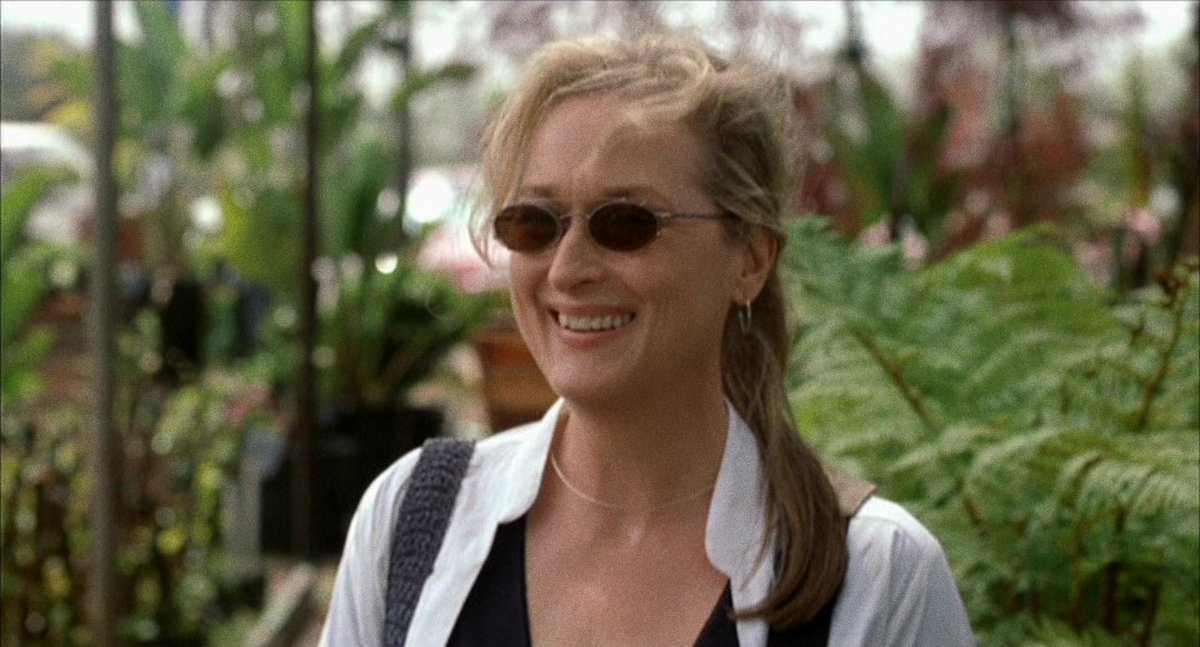 Meryl Streep As Susan Orlean In The 2002 Movie Adaptation with clip on sunglasses